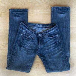 Miss Me Black Gray Faded Straight Leg Jeans 27